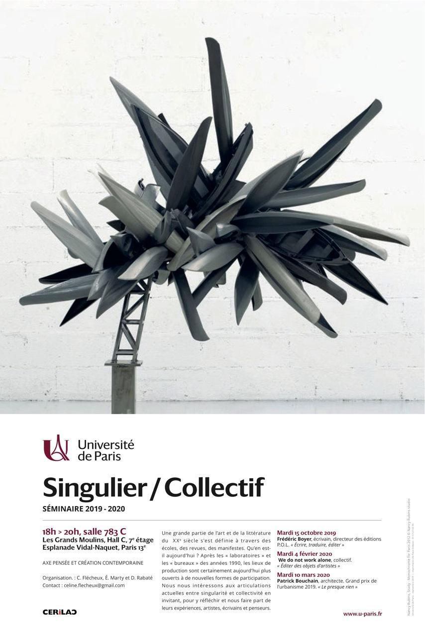 Séminaire Singulier / Collectif - « Écrire, traduire, éditer » (Laurent Boyer)